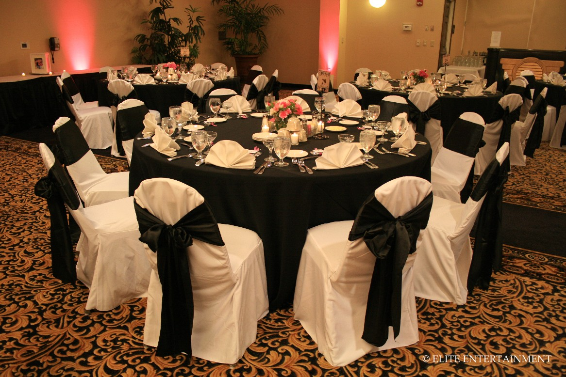 gold chair covers with black sash swing stand price christy and cameron 6 26 10 hilton elite entertainment
