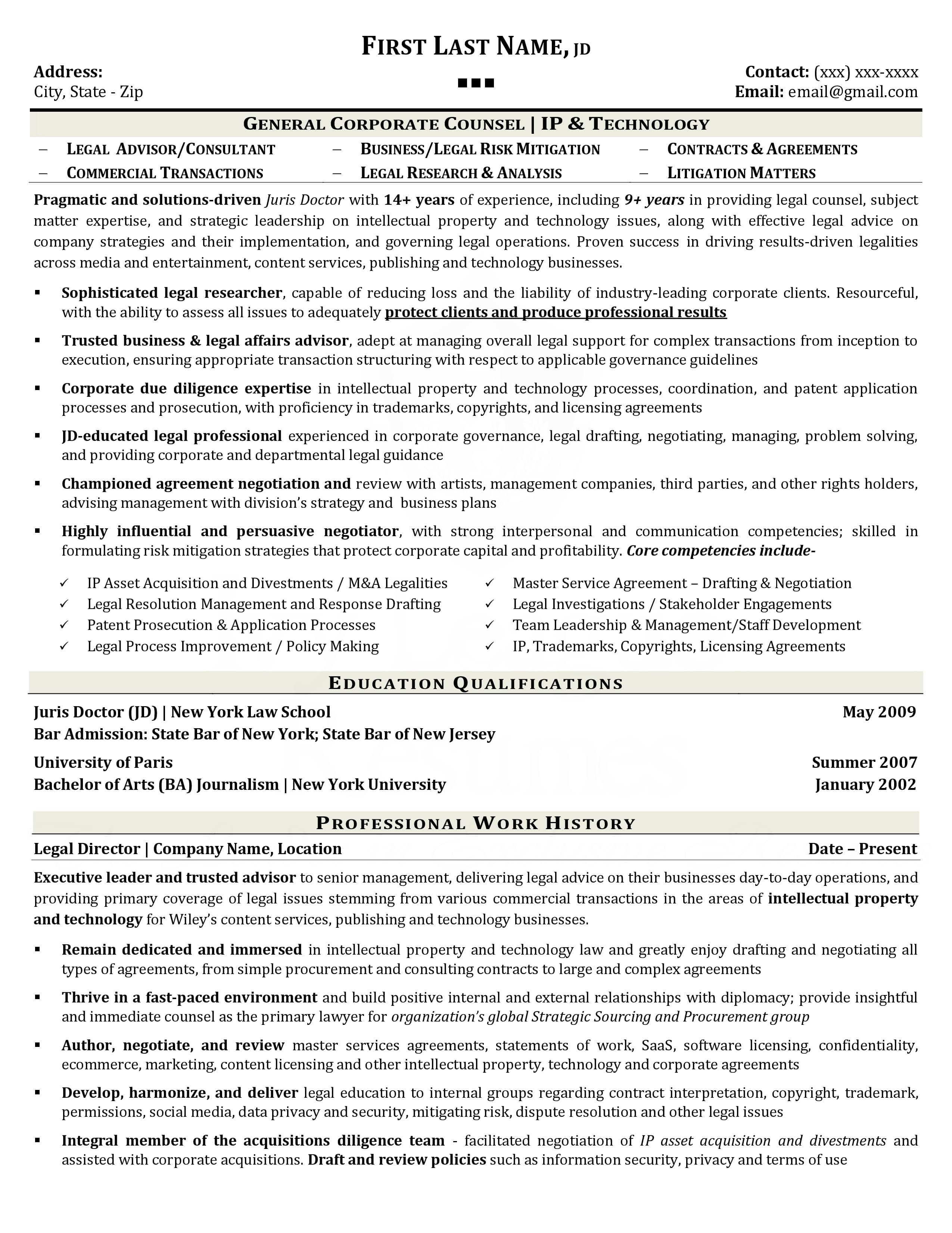 sample high school resume for ivy league