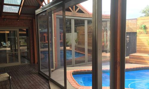 bi fold sliding patio glass door blinds