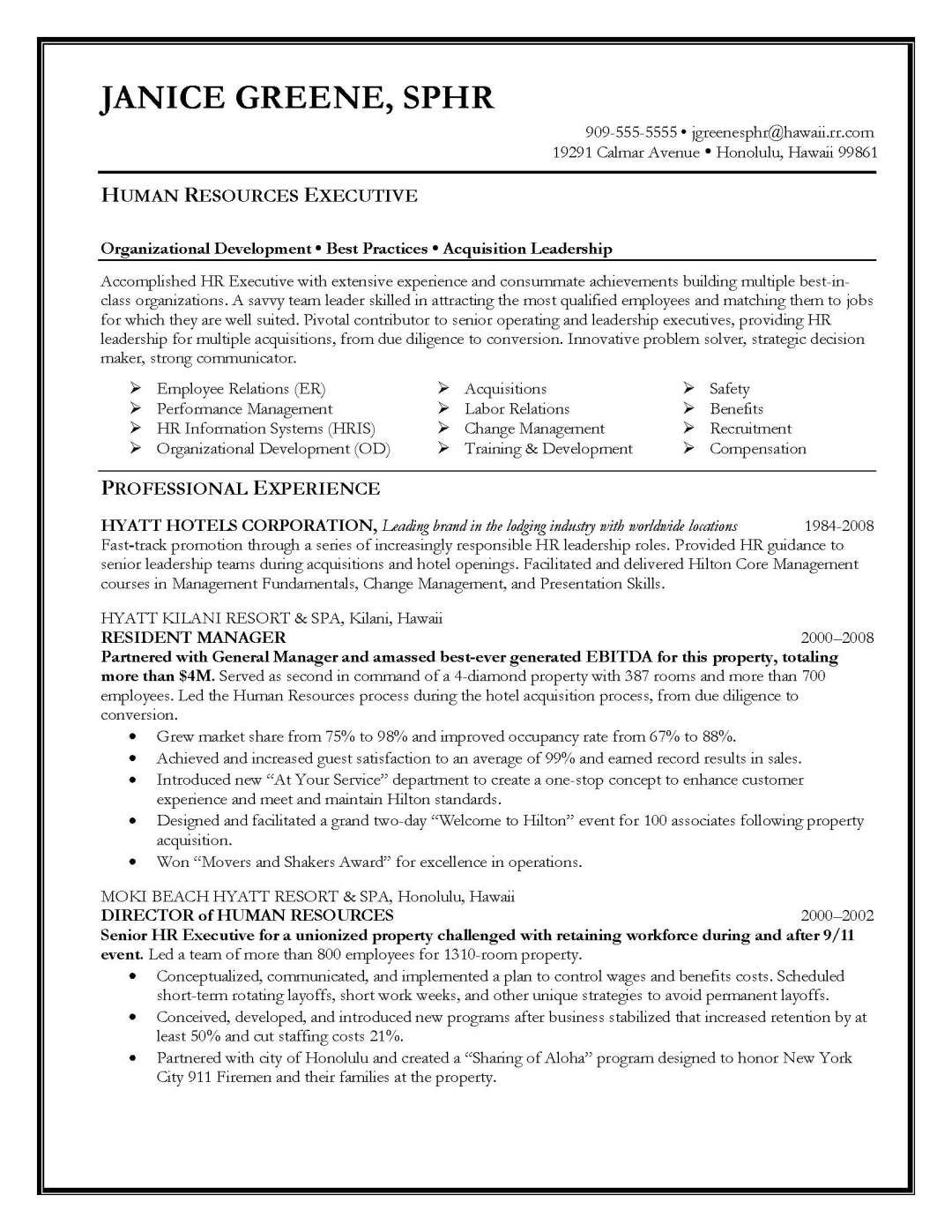 Hr Manager Resume Format Resume Samples Elite Resume Writing