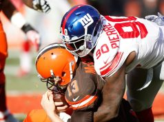 Jason Pierre-Paul, New York Giants, Josh McCown