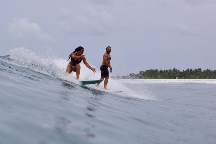 Ladies surf guided session
