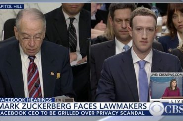 Facebook Owner, Mark Zuckerberg at US Congress on Data Scandal