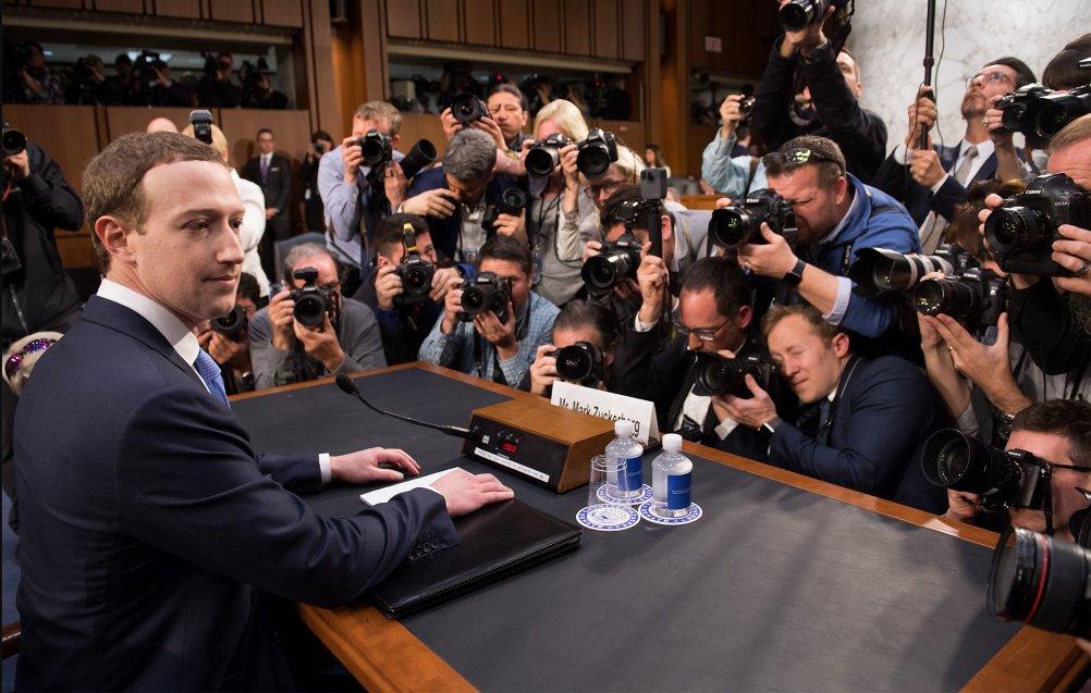 Facebook Owner, Mark Zuckerberg at US Congress on Data Scandal