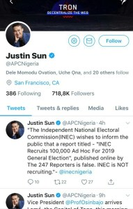 Justin Sun Bought or Hacked APC Twitter Account