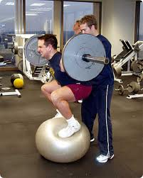 physioball squat