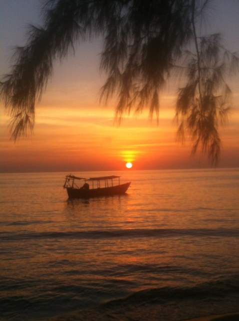 sunset otres beach