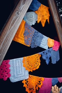 colorful doilies - wedding