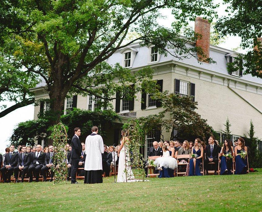 oak hill wedding ceremony - fall wedding
