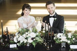 elegant black tie wedding - roundhouse wedding