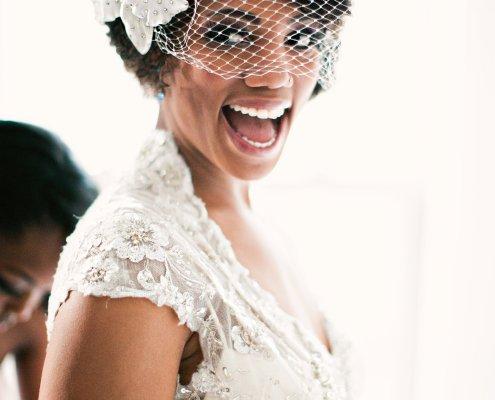 happy bride - hudson wedding