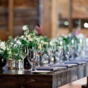 reception farm tables - handsome hollow barn wedding