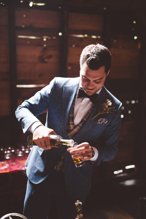 groom with cocktail | handsome hollow