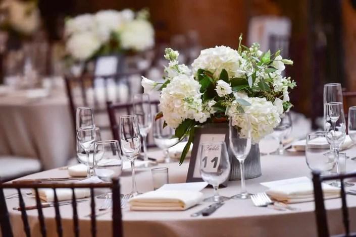 wedding flowers - fall senate garage wedding