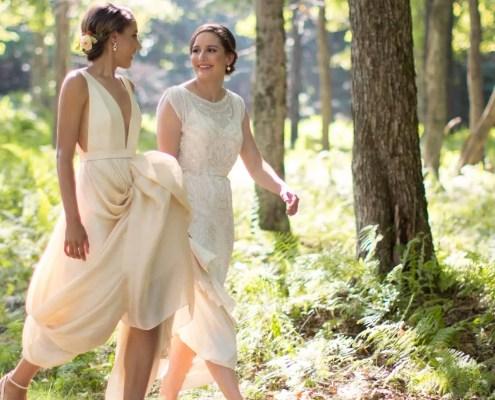 brides - wedding ceremony - Hudson valley