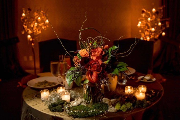 centerpiece fall wedding - diamond mills