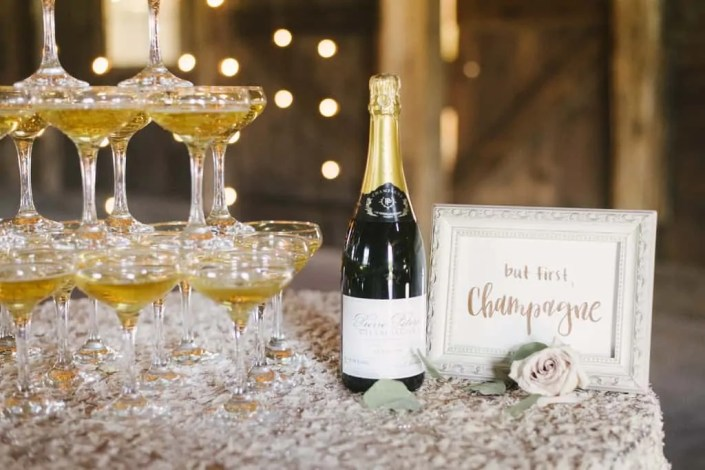 but first champagne sign