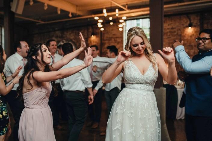 bride dancing on her wedding day