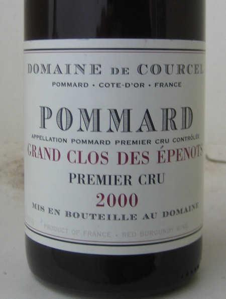 Pommard Premier Cru Grand Clos des Épenots 2000