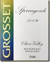 Grosset Springvale Riesling 2009