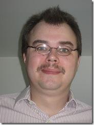 The hideous visage of David Strange (plus moustache)