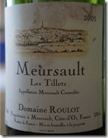 Meursault les Tillets 2001, Domaine Roulot