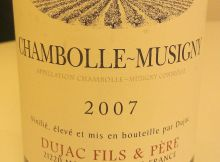 Chambolle-Musigny 2007, Dujac Fils & Pere