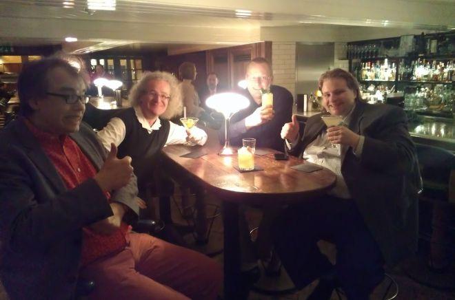 The Hawksmoor Seven Dials bar with the Hawksmoorathon team