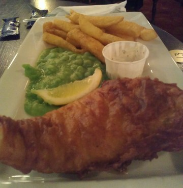 JD Wetherspoon fish and chips