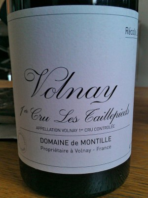 Volnay Premier Cru Les Taillepieds 2007 from de Montille
