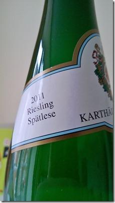 Eitelsbacher Karthauserhofberg Spatlese 2011