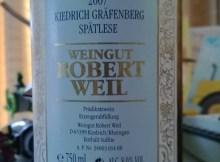 Robert Weil Spatlese Kiedrich Grafenberg 2007