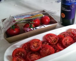 Isle of Wight tomatoes with super olive oil