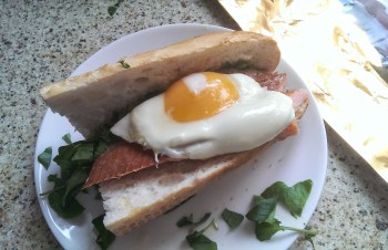 """The """"Hot"""" Hampwich - with hot smoked trout"""