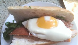 """The """"Hot"""" Hampwich with hot-smoked trout"""