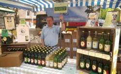 The Hill Farm apple juice stall