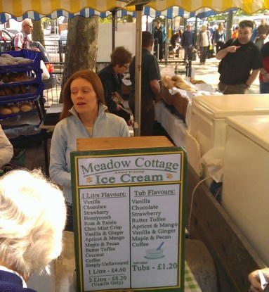 Another view of the Meadow Cottage ice cream stall