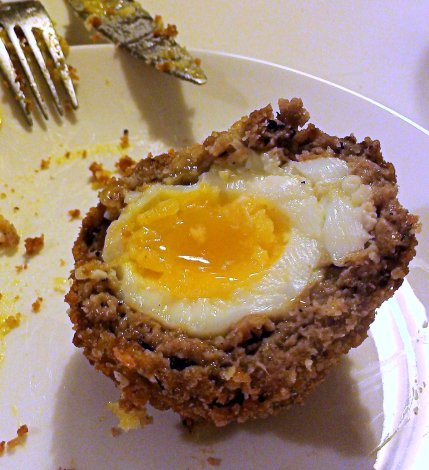 The Editor's Scotch Egg - with Old English sausagemeat