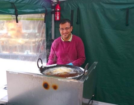 Happy falafel man!