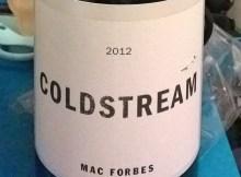 Coldstream PInot Noir 2012, Mac Forbes