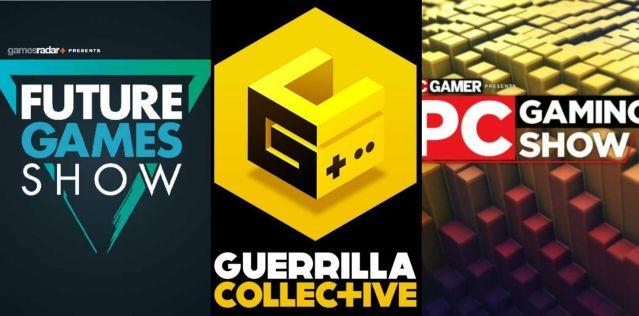 Zoznamy všetkých videí z Guerrilla Collective, Future Games Show a PC Gaming Show