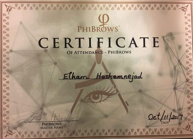 Phibrows certificate microblading Elix Beauty