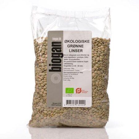 Grønne linser er små bønne -lignende bælgfrugter. Indeholder næringsstoffer, der er meget nærende. Køb økologiske grønne linser her!