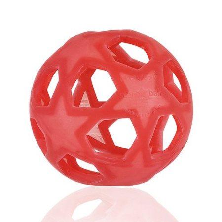 Den kemifrie Hevea bold i naturgummi er perfekt, naturligt legetøj, der understøtter baby og barns sansemotoriske udvikling.