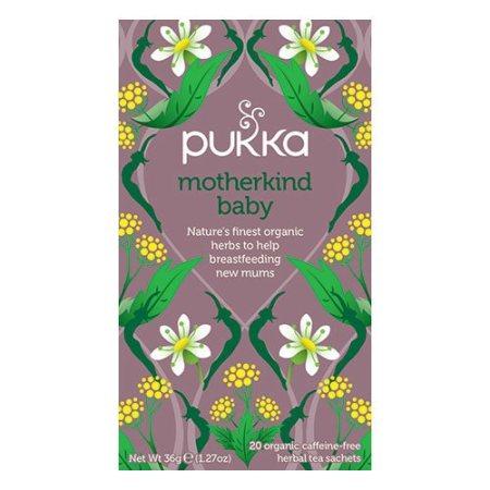 Økologisk, koffeinfri urtete fra Pukka, som gavner både den ammende mor og hendes baby.