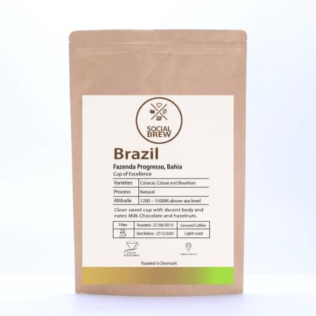Køb specialkaffe fra Brasilien - 250 gram hos Elixira. Den har en lækker smagsnote af kakao og hasselnød.