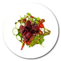 Elixir-Bistro-Restaurant-Fine-Dining-Dishes-Goat-Cheese-Beet-Beets-Salad-Cambridge-Ontario-Galt-Downtown