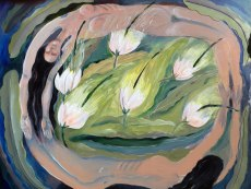 Painting of the Night-blooming Cereus