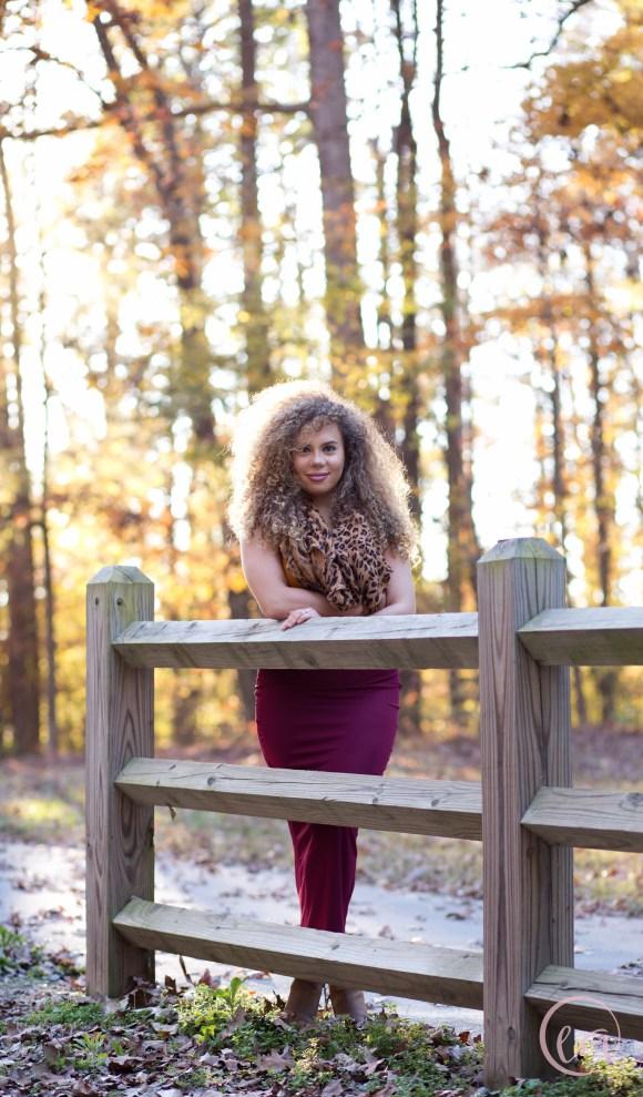 Fall portrait session in Matthews NC
