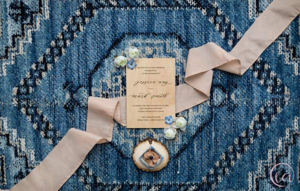 Blush & Blue bohemian bridal styled shoot by Elizabeth A. Images